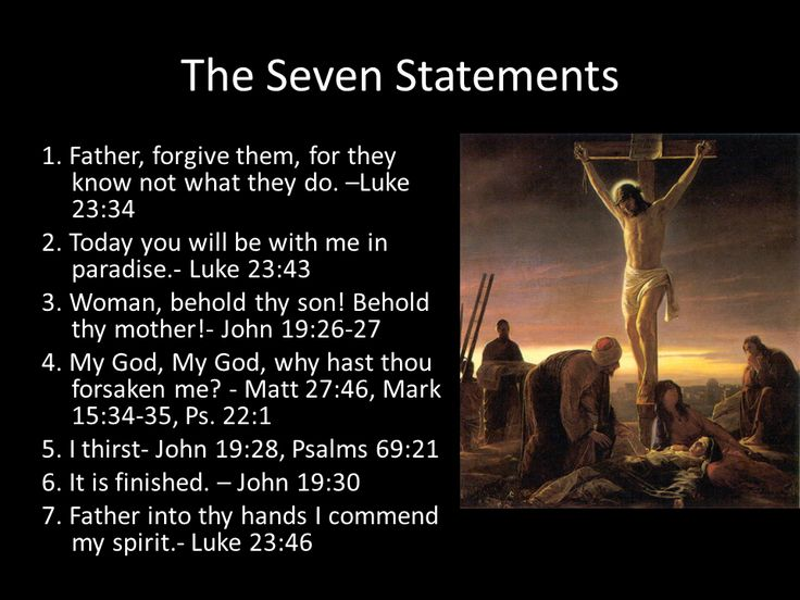 Seven Statement of Christ on the Cross. It would be good to keep in your scriptures to review during the sacrament.