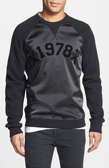 DIESEL® 'Tae' Mixed Media Raglan Sweatshirt - that should be mine!