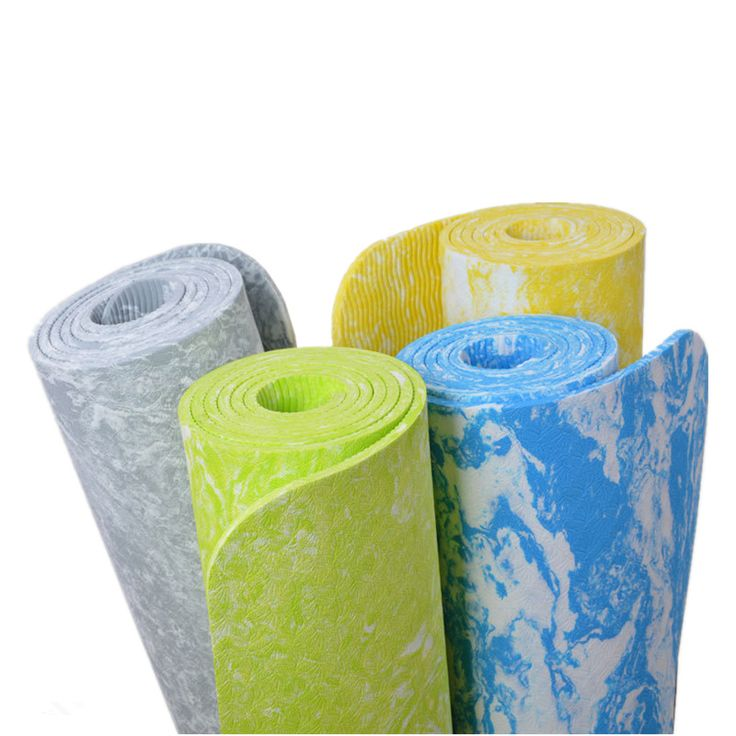 New Design TPE 6 mm Non-Slip Yoga Mat Exercise Fitness Mat Lose Weight Eco-friendly TPE Yoga Mat 185*62*0.6 cm Body Building
