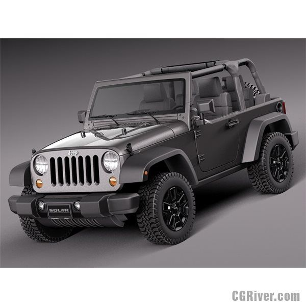 Jeep Wrangler Willis Wheeler 2014 - 3D Model