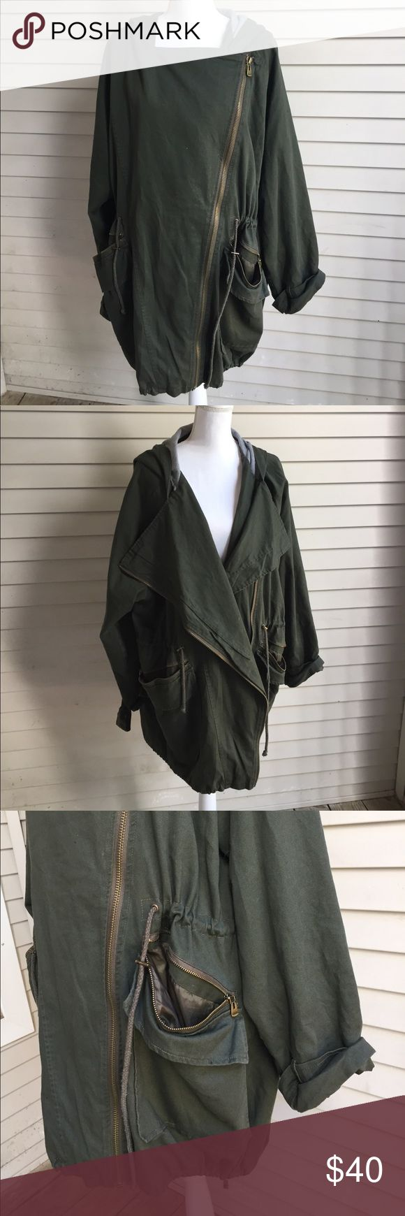 Asos Curve Army Green Hooded Jacket Will take measurements upon request! Great brand - great piece! Excellent condition ASOS Curve Jackets & Coats
