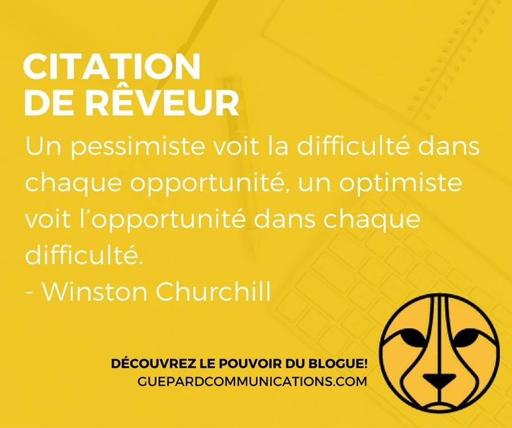 L'optimisme en affaires.