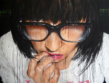 "Fred Calmets; Painting Acrylic, ""La frange"""