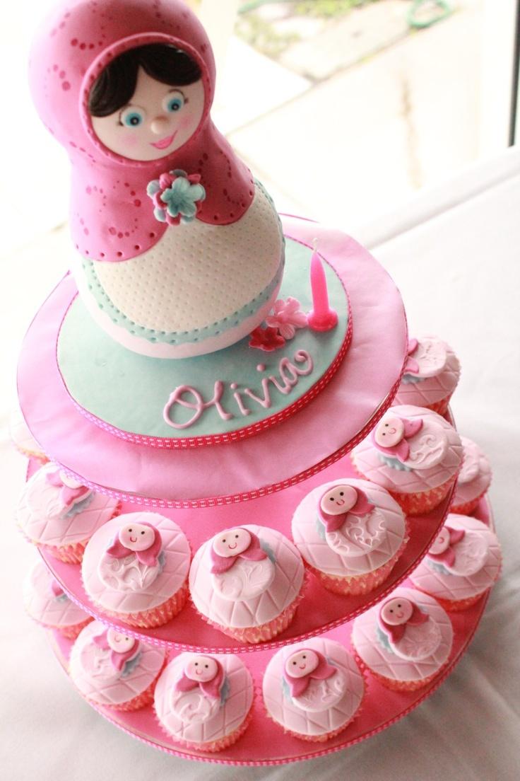 Blissfully Sweet: Babushka Cupcake Tower