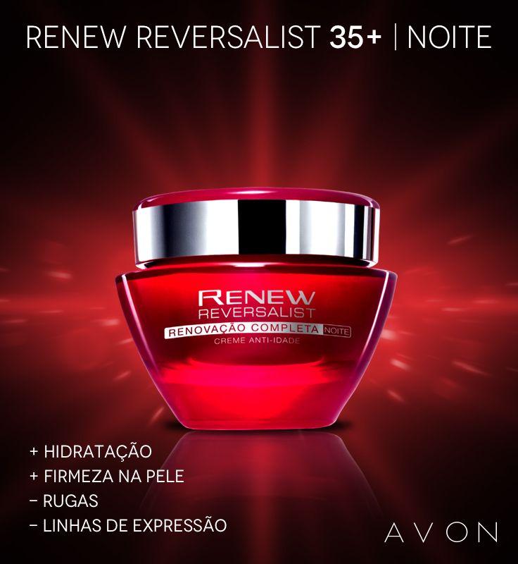 Renew Reversalist 35 Noite Avon Revendedor Avon Creme Anti
