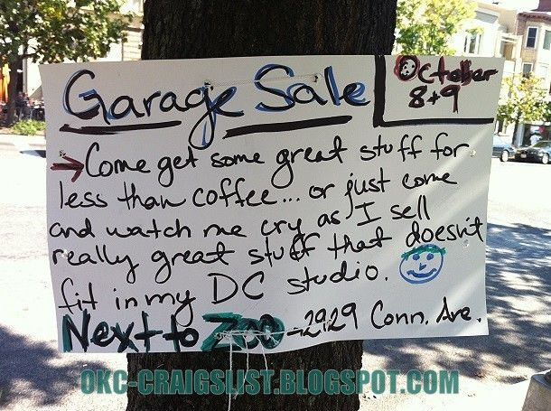 Garage Sale Sign Of The Week Crybaby Garage Sale Signs For