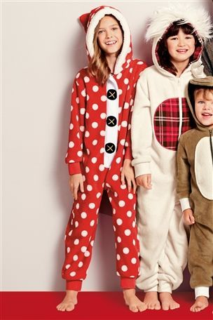Buy Red Spotty Fleece All-In-One (3-16yrs) from the Next UK online shop