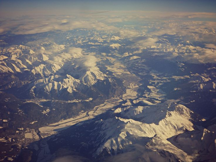 In volo, valle dell'Inn e Innsbruck