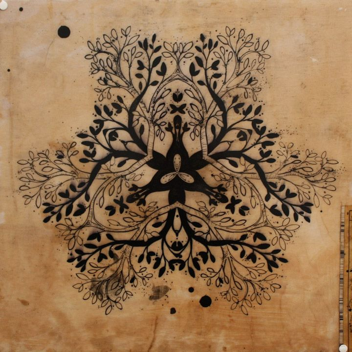 tree branches mandala style by david hale