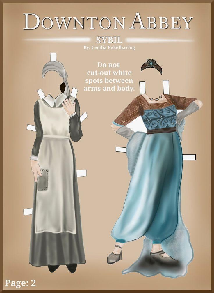 Downton Abbey LADY SYBIL CRAWLEY   Paper Doll