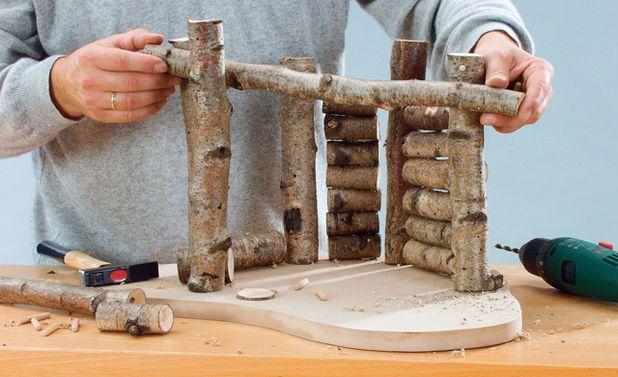 Natur-Krippe bauen: Schritt 8 von 10