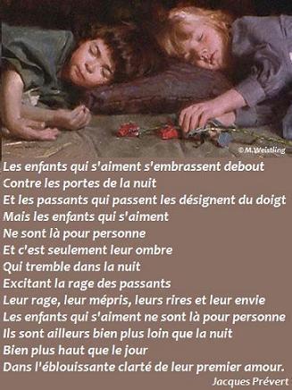 Les enfants qui s'aiment - J. Prévert