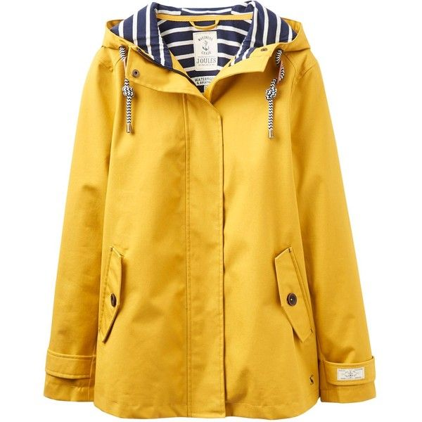 Joules Waterproof hooded jacket (7.115 RUB) ❤ liked on Polyvore featuring outerwear, jackets, women, yellow, yellow jacket, water proof jacket, waterproof jacket, lined jacket and lined hooded jacket
