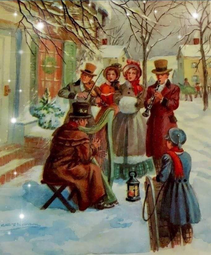 Песня рождественская открытка, анимация движущиеся днем
