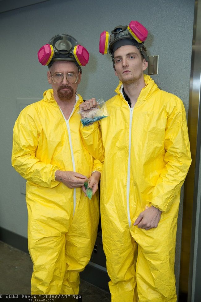 "I like the 'Breaking Bad' Costumes, but only if you answer the door, ""Trick or Treat, Bitches!"""