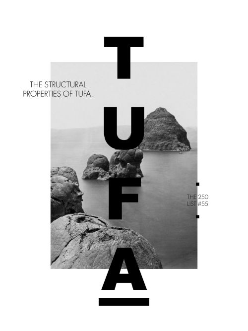 """250list: """"The structural properties of tufa. """""""
