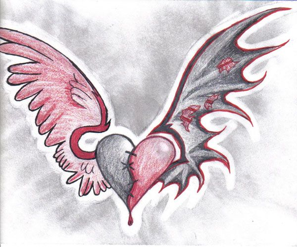 Cool tattoo designs to draw tattoo heart design 25 top for Heartbeat design