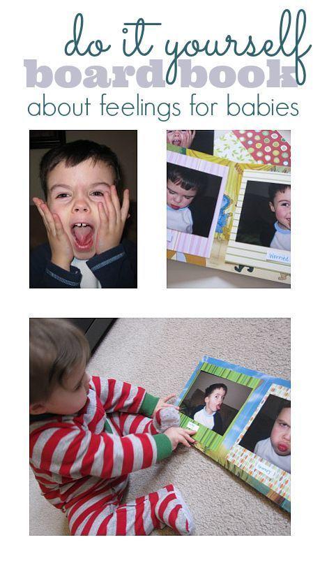diy board book about feelings toddlers pinterest feelings
