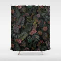 Tropical Iridescence Shower Curtain
