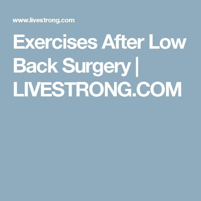exercises after back surgery pdf