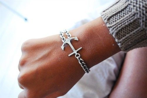 anchor bracelet: Nautical Jewelry, Anchors Bracelets, Anchors Obsession, Style, Clothing, Part Gamma, Jewels, Accessories, Cute Anchors