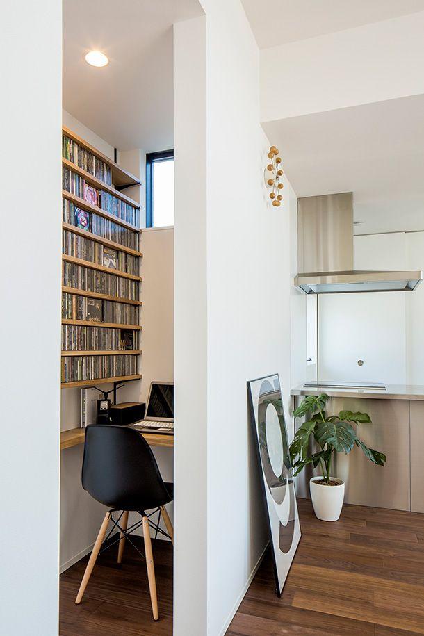 モノトーンカラーの家・間取り(愛知県名古屋市)   注文住宅なら建築設計事務所 フリーダムアーキテクツデザイン