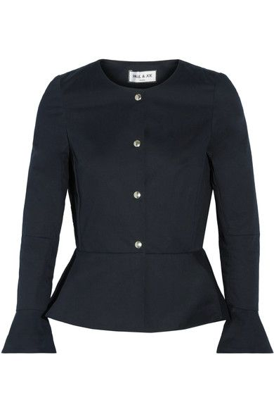 Paul & Joe - Cotton-blend Peplum Jacket - Midnight blue - FR34