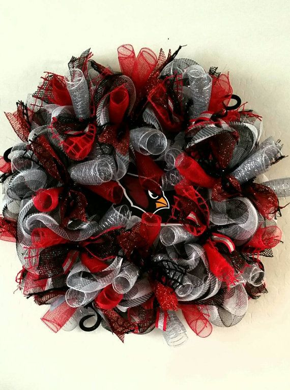 Hey, I found this really awesome Etsy listing at https://www.etsy.com/listing/254303317/arizona-cardinals-football-wreath