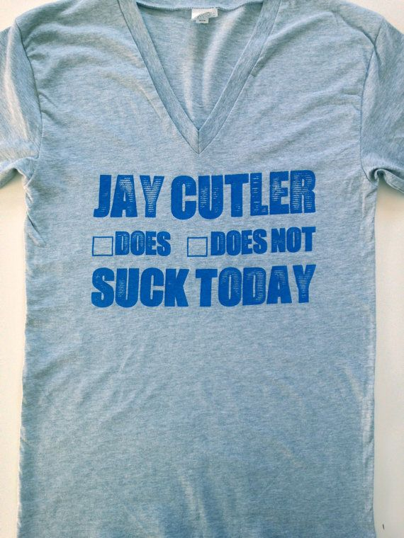 CHICAGO BEARS  Jay Cutler Does/Does Not Suck Today  by RobboShop