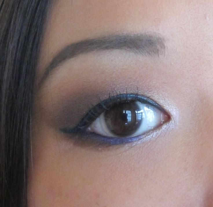 Teal and purple liners. A look I tried to recreate. Click for more images of this look