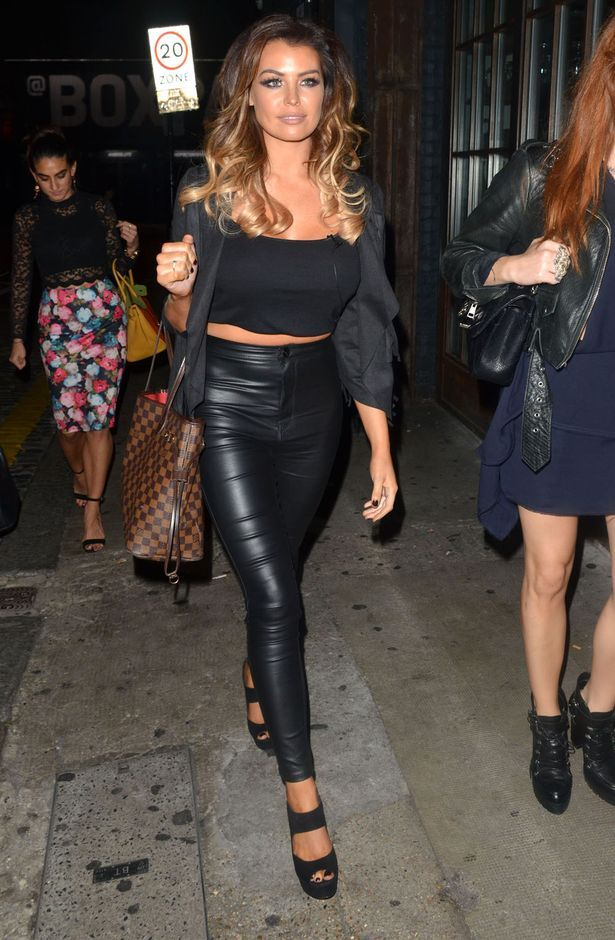 Jessica Wright looks glam in black and leather after returning from Ibiza…