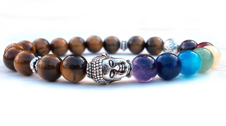 Reiki Buddha Lotus bracelet, Chakra bracelet, Buddha bracelet, Tiger Eye bracelet, Lotus flower bracelet, Yoga bracelet, Meditation bracelet by SoCutiful on Etsy https://www.etsy.com/listing/169576152/reiki-buddha-lotus-bracelet-chakra