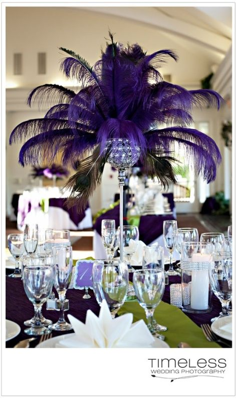 21 Ideas de Decoración de Bodas en color Púrpura Oscuro