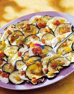 Le Ricette del Cluster – Carpaccio di melanzane, mozzarella e peperoni.