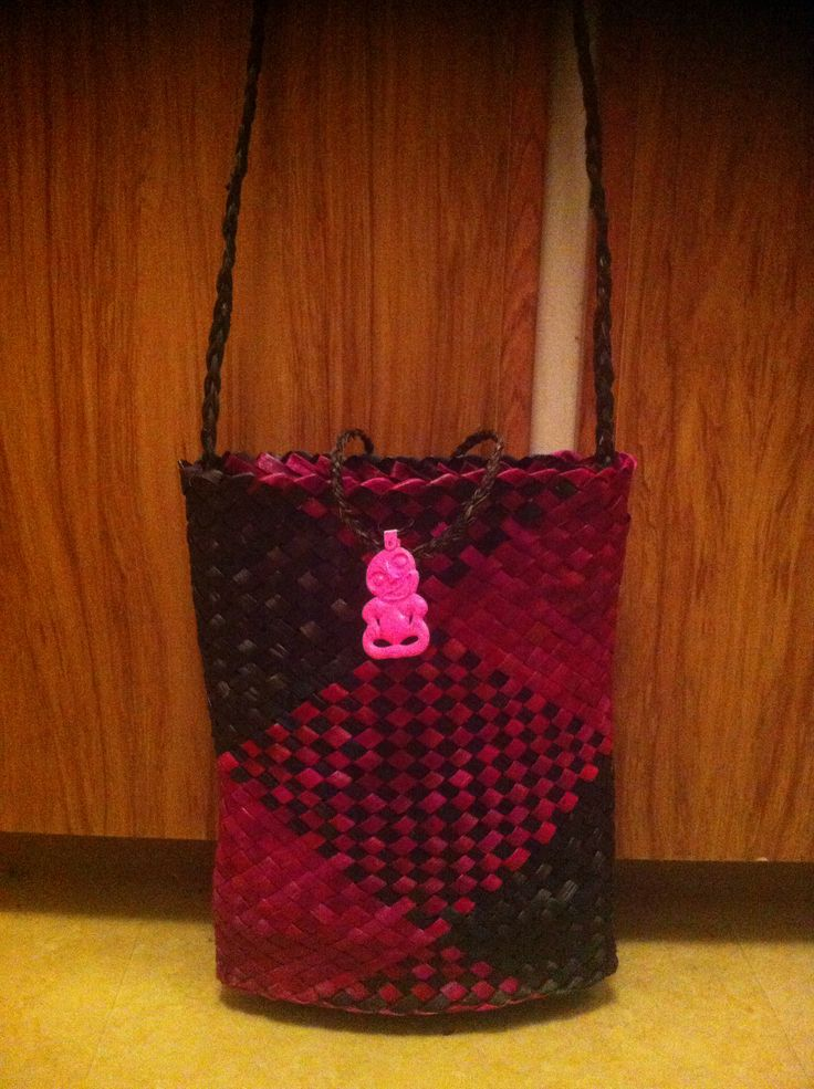 Pink and black kete.