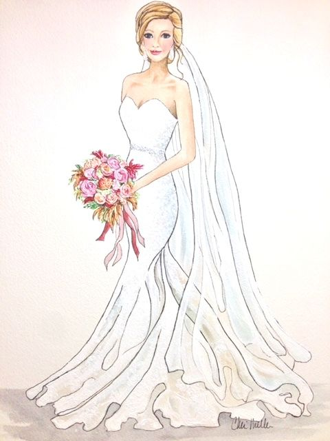 Searching for a unique wedding gift  Give them a custom bridal portrait - a  gift they will cherish forever!  customized  customart  weddinggift 4acf80077b