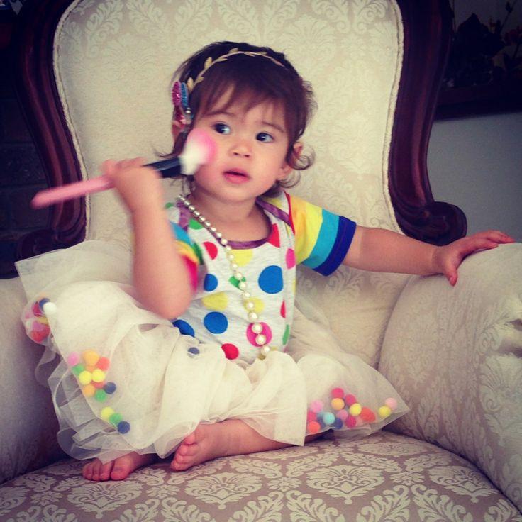 Kids fashion - colorful - rainbow - giddy up and grow headband, rock your baby tutu celebration - oishi-m ss tee - christmas photoshoot - my girl