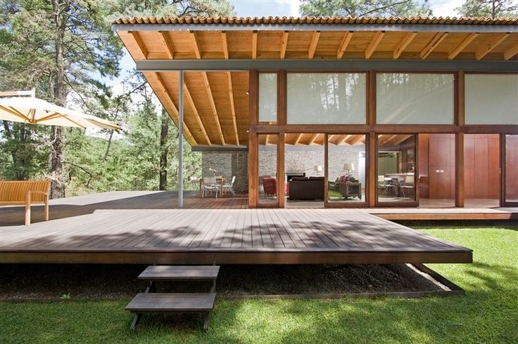 Toc House by Elias Rizo Arquitectos - like this look with large floating deck and skillion roof.