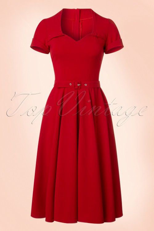 Miss Candyfloss Red Swing Dress 100 20 20605 20170223 0017w