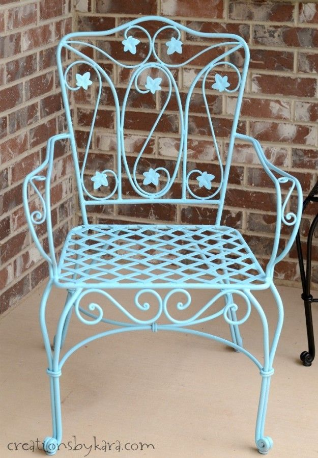 How To Transform Rusty Metal Patio Furniture The Easy Way!   Creations By  Kara
