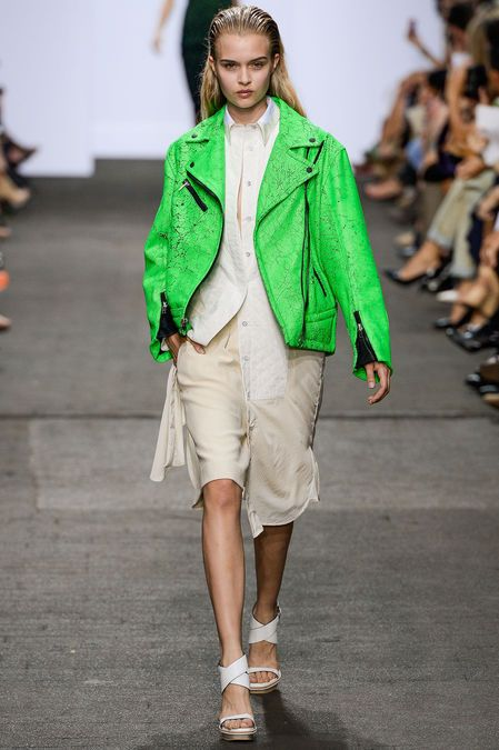 This is YOUR jacket Winter Star. Yours and only yours. Neon green. Raddest on your cool cool undertones. Rag & Bone Spring 2013