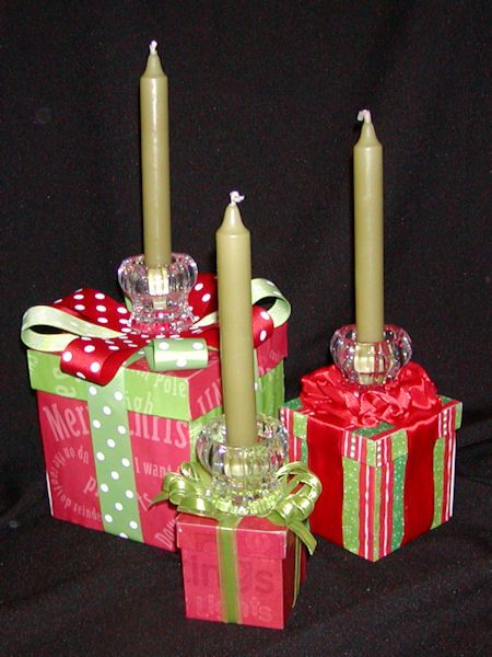 Christmas table decoration gift boxes centerpiece