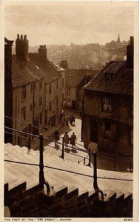 Postcard Whitby 199 steps