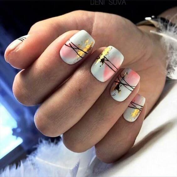 52 Glamor Foil Nail Art Designs