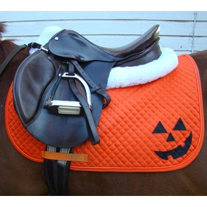 Jack O Lantern Halloween English All Purpose Saddle Pad $35.00 This is too perfect. But I have the feeling that it would lok awful on my chestnut...