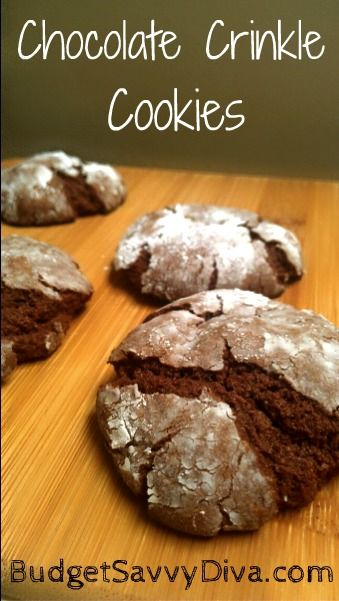 Chocolate Crinkle Cookies | Recipe