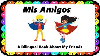 Perfect for reviewing adjectives, careers, and hobbies; this booklet will allow students to draw and write about three of their best friends in Spanish.  Included in this booklet: -bilingual directions -bilingual word banks on each page to assist students in their writing  Each page could be a separate minilesson in sentence structure with the review focus (adjective, career, hobby).