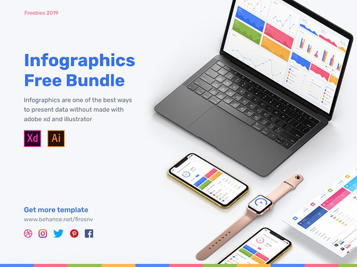 Get your hands on this cool Adobe Xd infographics bundle