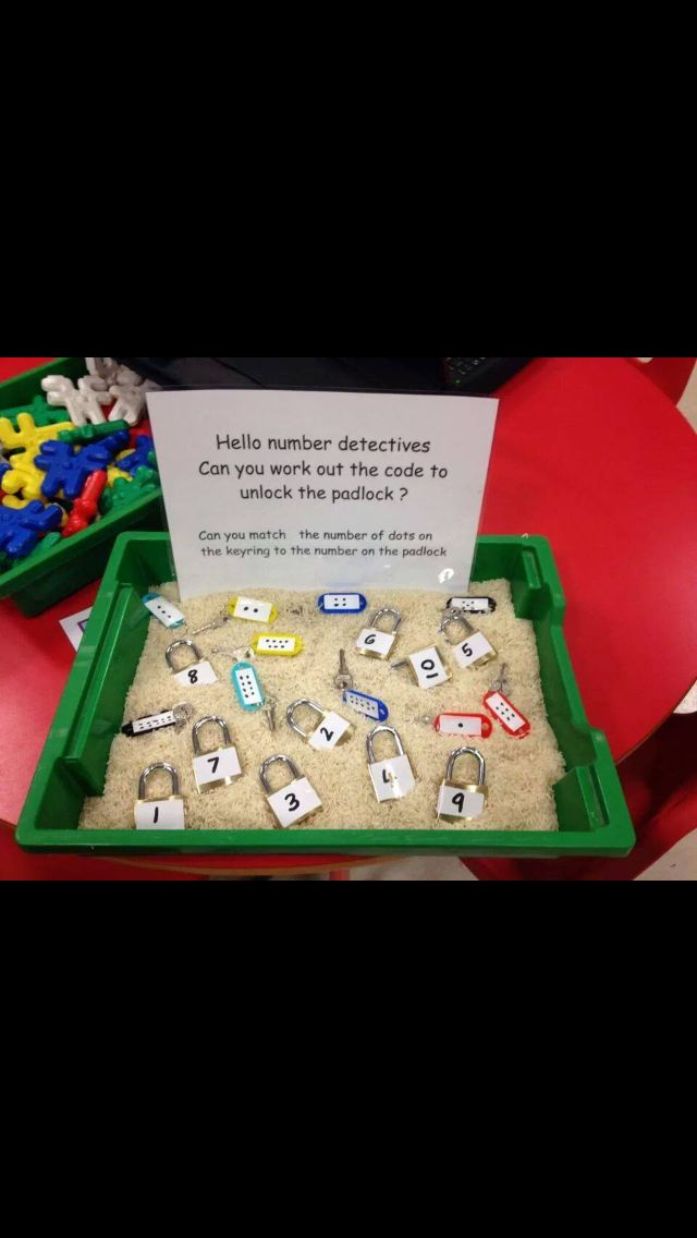 Keys and locks sensory bin