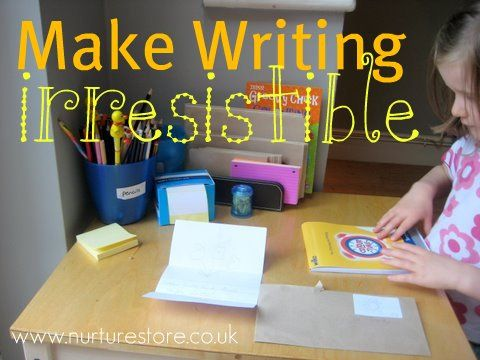 What do you do to encourage lots of writing in your home? Ideas here to make writing irresistible.